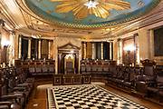 An interior of a Masonic Temple at the Andaz Hotel on the 20th September 2019 in London in the United Kingdom.