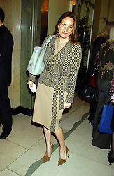 EMILY OPPENHEIMER at a lunch and fashion show by Bruce Oldfield in aid of Barnados and held at Claridges, Brook Street, London W1 on 22nd September 2004.<br /><br />NON EXCLUSIVE - WORLD RIGHTS