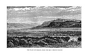 The Plain of Jordan from the hill behind Jericho From the Book 'Bible places' Bible places, or the topography of the Holy Land; a succinct account of all the places, rivers and mountains of the land of Israel, mentioned in the Bible, so far as they have been identified, together with their modern names and historical references. By Tristram, H. B. (Henry Baker), 1822-1906 Published in London in 1897