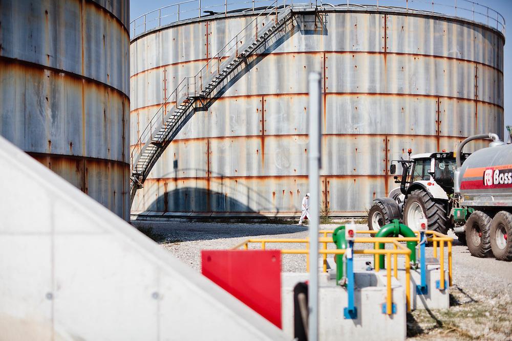10 SEP 2011 - Torrile (Parma) - Zuccherificio Eridania. Impianto per il Biogas