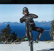 "Image: ""Lake Tahoe Wheelie""<br /> Athlete: Gary Bell"