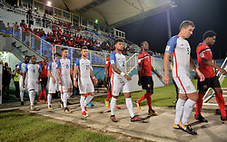 October 10, 2017 - Couva, Caroni County, Trinidad & Tobago - Couva, Trinidad & Tobago - Tuesday Oct. 10, 2017: USMNT starting eleven during a 2018 FIFA World Cup Qualifier between the men's national teams of the United States (USA) and Trinidad & Tobago (TRI) at Ato Boldon Stadium. (Credit Image: © John Todd/ISIPhotos via ZUMA Wire)