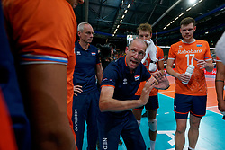 21-09-2019 NED: EC Volleyball 2019 Netherlands - Germany, Apeldoorn<br /> 1/8 final EC Volleyball / Coach Roberto Piazza of Netherlands