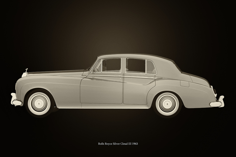 The 1963 Rolls Royce Silver Cloud III symbolises wealth and power. All over the world this 1963 Rolls Royce Silver Cloud III can be found moon the steering wheel a driver who drives high representatives or chic ladies. British phlegm on four wheels can also be called this Rolls Royce.<br /> <br /> This painting of a Rolls Royce Silver Cloud III from 1963 can be printed very large on different materials. –<br /> <br /> BUY THIS PRINT AT<br /> <br /> FINE ART AMERICA<br /> ENGLISH<br /> https://janke.pixels.com/featured/rolls-royce-silver-cloud-iii-black-and-white-jan-keteleer.html<br /> <br /> WADM / OH MY PRINTS<br /> DUTCH / FRENCH / GERMAN<br /> https://www.werkaandemuur.nl/nl/shopwerk/Rolls-Royce-Silver-Cloud-III-Zwart-en-Wit/743798/132?mediumId=11&size=75x50<br /> <br /> -