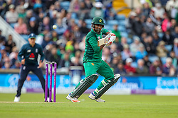 May 19, 2019 - Leeds, England, United Kingdom - Sarfraz Ahmed the Pakistan captain batting during the 5th Royal London One Day International match between England and Pakistan at Headingley Carnegie Stadium, Leeds on Sunday 19th May 2019. (Credit Image: © Mi News/NurPhoto via ZUMA Press)
