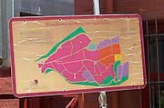 Map over vineyards. Kir-Yianni Winery, Yianakohori, Naoussa, Macedonia, Greece
