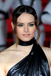 """at the Star Wars """"The Last Jedi"""" European premiere at the Royal Albert Hall in London, UK. 12 Dec 2017 Pictured: Daisy Ridley. Photo credit: MEGA TheMegaAgency.com +1 888 505 6342"""