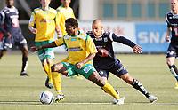 Fotball <br /> Adeccoligaen<br /> UKI Arena <br /> 16.05.2013<br /> Ull-Kisa  v Kristiansund Ballklubb  1-4<br /> Foto: Dagfinn Limoseth, Digitalsport<br /> Mahmoud El Haj  , Kristiansund og Stanley Ihugba , Ull-Kisa