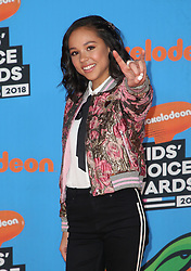 INGLEWOOD, CA - MARCH 24: Mel B. attends Nickelodeon's 2018 Kids' Choice Awards at The Forum on March 24, 2018 in Inglewood, California. Credit: Faye Sadou / MediaPunch. 24 Mar 2018 Pictured: Breanna Yde. Photo credit: FS/MPI/Capital Pictures / MEGA TheMegaAgency.com +1 888 505 6342