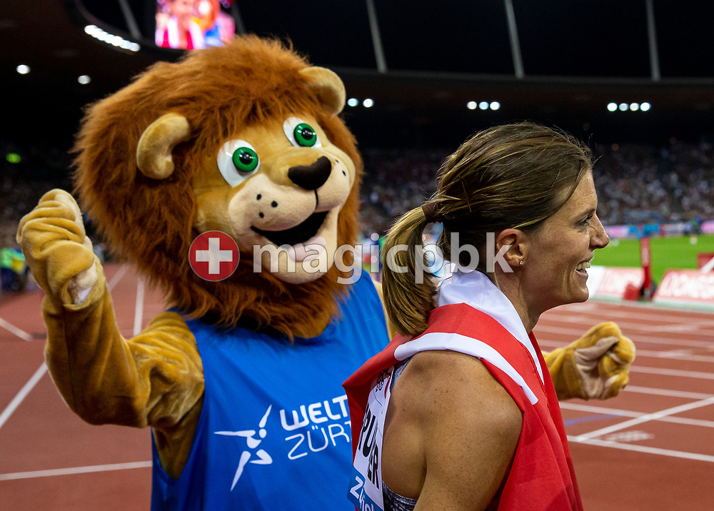 Lea SPRUNGER of Switzerland reacts after competing in the Women's 400m Hurdles during the Iaaf Diamond League meeting (Weltklasse Zuerich) at the Letzigrund Stadium in Zurich, Switzerland, Thursday, Aug. 29, 2019. (Photo by Patrick B. Kraemer / MAGICPBK)