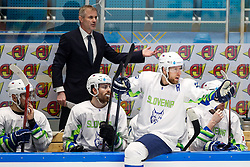 Ivo Jan, head coach of Slovenia and Robert Sabolic of Slovenia during ice hockey match between Hunngary and Kazakhstan at IIHF World Championship DIV. I Group A Kazakhstan 2019, on May 3, 2019 in Barys Arena, Nur-Sultan, Kazakhstan. Photo by Matic Klansek Velej / Sportida