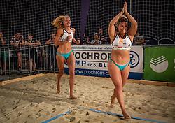 Female winners Tjasa Jancar and Tjasa Kotnik on Beach volley National Championship of Slovenia  on July 20, 2019 in Kranj, Slovenia. Photo by Urban Meglic / Sportida
