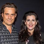 NLD/Amsterdam/20161010 -  Premiere De Verleiders: Slikken en Stikken, Tina de Bruin en partner Vincent Croiset