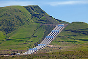 The Ira J. Chrisman Wind Gap Pumping Plant, part of the California State Water Project, is located at the southern end of the San Joaquin Valley. Water is pumped 518 feet over the Grapevine from the California Aqueduct, enroute to Los Angeles as part of its water supply. Kern County, California , USA