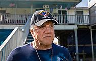 Isle de Jean Charles Biloxi-Chitimacha-Choctaw Tribe Chief Albert Naquin on the  Isle de Jean Charles where he grew up.