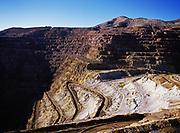 Open pit copper mine, Bisbee, Arizona.