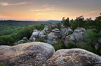 Sunset at Garden of the Gods Recreation Area, Shawnee National Forest, Illinois.