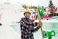 Athlete during Luza 9 event at ski resort RTC Krvavec, on April 6, 2014 in Krvavec, Slovenia. Photo by Vid Ponikvar / Sportida