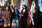 March 18, 2021 (DC): Vice President Harris Swears In Deb Haaland As Secretary Of The Interior