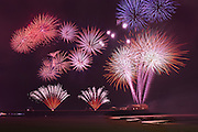 Snap! Crackle! and Pop!  - Fireworks over the North Pier, Blackpool, Lancashire, England