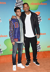 Mena Massoud and Will Smith attend Nickelodeon's 2019 Kids' Choice Awards at Galen Center on March 23, 2019 in Los Angeles, CA, USA. Photo by Lionel Hahn/ABACAPRESS.COM