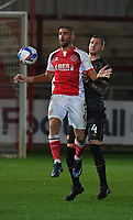 Hull City's Jordy de Wijs battles with Fleetwood Town's Ched Evans<br /> <br /> Photographer Dave Howarth/CameraSport<br /> <br /> The EFL Sky Bet League One - Fleetwood Town v Hull City - Friday 9th October 2020 - Highbury Stadium - Fleetwood<br /> <br /> World Copyright © 2020 CameraSport. All rights reserved. 43 Linden Ave. Countesthorpe. Leicester. England. LE8 5PG - Tel: +44 (0) 116 277 4147 - admin@camerasport.com - www.camerasport.com