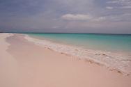 Emerald seas at Pink Sands Beach, Harbour Island, The Bahamas