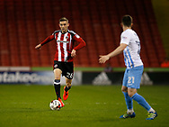 Jay O'Shea of Sheffield Utd during the English League One match at Bramall Lane Stadium, Sheffield. Picture date: April 5th 2017. Pic credit should read: Simon Bellis/Sportimage