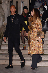 Jeremy Meeks and Chloe Green attending the Ralph And Russo show during Paris Fashion Week Haute Couture Spring Summer 2018 on January 22, 2018. Photo by Julien Reynaud/APS-Medias/ABACAPRESS.COM