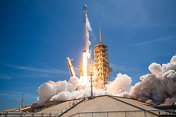 Jun 23, 2017 - Vandenberg Air Force Base, California, U.S. - SpaceX's Falcon 9 rocket successfully launched the BulgariaSat-1 satellite into orbit-the first geostationary communications satellite in Bulgaria's history. This mission marked the second reflight of a Falcon 9 first stage, having previously supported the Iridium-1 mission from Vandenberg Air Force Base in January of this year. (Credit Image: © SpaceX via ZUMA Wire/ZUMAPRESS.com)