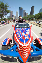 Stock photo of a Kinky Friedman political Plymouth Prowler