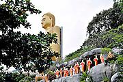 Sri Lanka, Dambulla cave temple. Golden Buddha