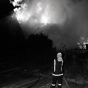 NLD/Huizen/19910921 - Brand kos Koperslager Huizen, vermoedelijk aangestoken door een pyromaan