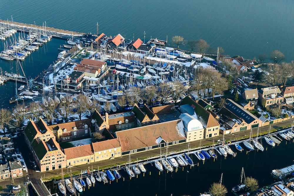 Nederland, Noord-Holland, Enkhuizen, 28-10-2016; centrum van Enkhuizen rond Zuiderzeemuseum. Oosterhaven<br /> Enkhuizen historical city centre.<br /> luchtfoto (toeslag op standard tarieven);<br /> aerial photo (additional fee required);<br /> copyright foto/photo Siebe Swart