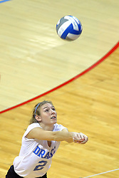 23 November 2017:  Sara Jensen during a college women's volleyball match between the Drake Bulldogs and the Indiana State Sycamores in the Missouri Valley Conference Tournament at Redbird Arena in Normal IL (Photo by Alan Look)