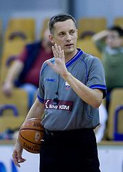 Referee Sasa Pukl at third finals basketball match of Slovenian Men UPC League between KK Union Olimpija and KK Helios Domzale, on June 2, 2009, in Arena Tivoli, Ljubljana, Slovenia. Union Olimpija won 69:58 and became Slovenian National Champion for the season 2008/2009. (Photo by Vid Ponikvar / Sportida)