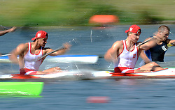 DAWID PUTTO & DENIS AMBROZIAK (BOTH POLAND) COMPETE IN MEN'S K2 200 METERS QUALIFICATION RACE DURING 2010 ICF KAYAK SPRINT WORLD CHAMPIONSHIPS ON MALTA LAKE IN POZNAN, POLAND...POLAND , POZNAN , AUGUST 21, 2010..( PHOTO BY ADAM NURKIEWICZ / MEDIASPORT ).