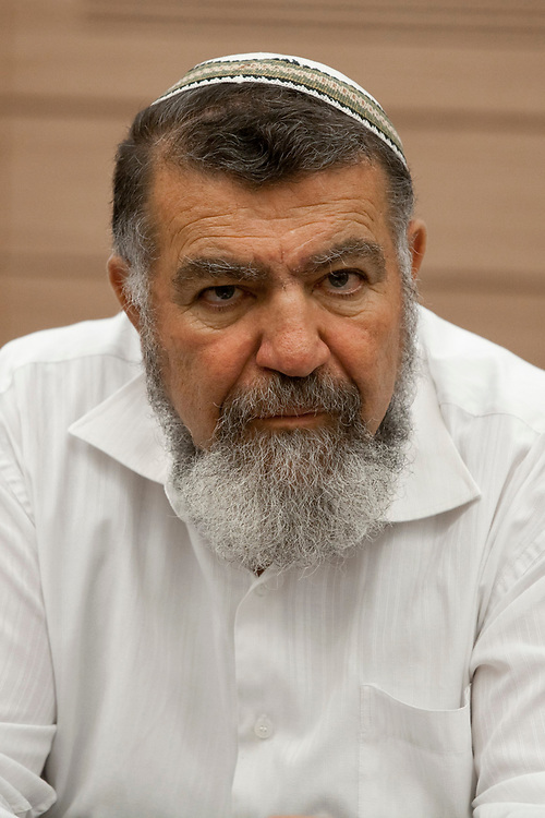 Gershon Mesika, head of the Shomron Regional Council attends a session of the Foreign Affairs and Defense Subcommittee for Civil and Security Issues in Judea and Samaria at Israel's parliament, the Knesset in Jerusalem, on September 12, 2011.