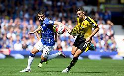 Everton's Kevin Mirallas battles with Watford's Craig Cathcart  - Mandatory byline: Matt McNulty/JMP - 07966386802 - 08/08/2015 - FOOTBALL - Goodison Park -Liverpool,England - Everton v Watford - Barclays Premier League