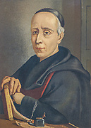 Friar Benito Jeronimo Feijoo y Montenegro (Spanish pronunciation: [beˈnito xeˈɾonimo fejˈxoo]; 8 October 1676 – 26 September 1764) was a Spanish monk and scholar who led the Age of Enlightenment in Spain. He was an energetic popularizer noted for encouraging scientific and empirical thought in an effort to debunk myths and superstitions. From the book La ciencia y sus hombres : vidas de los sabios ilustres desde la antigüedad hasta el siglo XIX T. 3  [Science and its men: lives of the illustrious sages from antiquity to the 19th century Vol 3] By by Figuier, Louis, (1819-1894); Casabó y Pagés, Pelegrín, n. 1831 Published in Barcelona by D. Jaime Seix, editor , 1879 (Imprenta de Baseda y Giró)