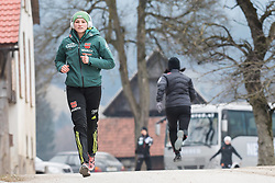 February 8, 2019 - Anna Rupprecht of Germany warming up before first competition day of the FIS Ski Jumping World Cup Ladies Ljubno on February 8, 2019 in Ljubno, Slovenia. (Credit Image: © Rok Rakun/Pacific Press via ZUMA Wire)