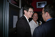 ALAN RUSBRIDGER, ERNESTO EKAIZER AND  PHILIPPE SANDS. Opening night of 'Called To Account' The Tricycle  Theatre. London. 23 April 2007.  -DO NOT ARCHIVE-© Copyright Photograph by Dafydd Jones. 248 Clapham Rd. London SW9 0PZ. Tel 0207 820 0771. www.dafjones.com.