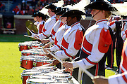 CHARLOTTESVILLE, VA- NOVEMBER 12: The Virginia Cavalier band marches on the field before the game against the Duke Blue Devils on November 12, 2011 at Scott Stadium in Charlottesville, Virginia. Virginia defeated Duke 31-21. (Photo by Andrew Shurtleff/Getty Images) *** Local Caption ***