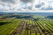 Nederland, Friesland, Gemeente Achtkarspelen, 28-02-2016; het landschap van de  Friese Wouden (Fryske Walden) met Pingoruines. Gelegen in de driehoek Twijzel, Zwaagwesteinde en Buitenpost.<br /> Landscape Frisian Woods (Fryske Walden) with Pingo ruines.<br />  <br /> luchtfoto (toeslag op standard tarieven);<br /> aerial photo (additional fee required);<br /> copyright foto/photo Siebe Swart