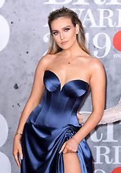 Perrie Edwards of Little Mix attending the Brit Awards 2019 at the O2 Arena, London. Photo credit should read: Doug Peters/EMPICS Entertainment. EDITORIAL USE ONLY