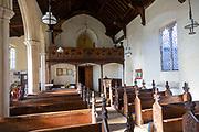 Village parish church Hacheston, Suffolk, England, UK view of nave looking west