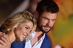 """World Premiere of """"Thor: Ragnarok"""". El Capitan Theatre, Hollywood, California. EVENT October 10, 2017. 10 Oct 2017 Pictured: Chris Hemsworth,Elsa Pataky. Photo credit: AXELLE/BAUER-GRIFFIN / MEGA TheMegaAgency.com +1 888 505 6342"""