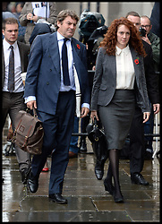 Rebekah and Charlie Brooks arrives at the The Old Bailey, London, United Kingdom, for the Phone Hacking Trial.  Thursday, 31st October 2013. Picture by Andrew Parsons / i-Images
