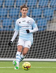 Alexander Bouaziz (FC Helsingør) under træningskampen mellem FC Helsingør og Fremad Amager den 18. januar 2020 på Helsingør Ny Stadion (Foto: Claus Birch)