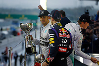 HAMILTON Lewis (Gbr) Mercedes Gp Mgp W05 ambiance portrait podium ambiance   during the 2014 Formula One World Championship, Japan Grand Prix from October 3rd to 5th 2014 in Suzuka. Photo Frederic Le Floc'h / DPPI